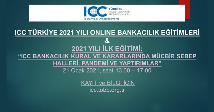 2021 YILI İLK EĞİTİMİ: ICC BANKACILIK KURAL VE KARARLARINDA MÜCBİR SEBEP HALLERİ, PANDEMİ VE YAPTIRIMLAR 21 Ocak 2021, saat 13.00 – 17.00