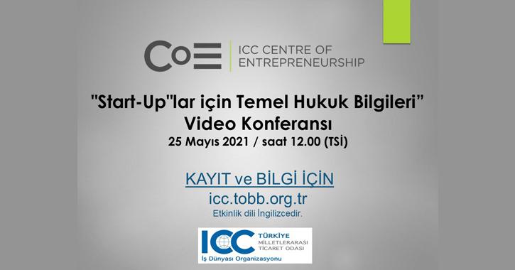ICC Grişicimcilik Merkezi tarafından düzenlenecek olan Start-Uplar için Temel Hukuk Bilgileri konulu konferansta start-up lar için resmi sözleşmelerin gerekliliği ve süreçlerin başarıyla yürütülebilmesi için ICC'nin Model Başlangıç Sözleşmelerinin nasıl kullanılabileceği konuları tartışılacaktır.