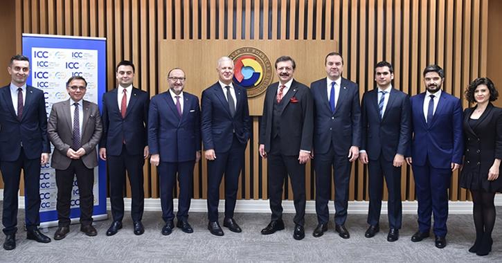 ICC Türkiye Milli Komitesi Yönetim Kurulu Başkanı ve TOBB Başkanı M. Rifat Hisarcıklıoğlu evsahipliğinde, ICC Genel Sekreteri John Denton'ın katılımıyla 24 Şubat 2020 tarihinde İstanbul'da TOBB Hizmet Binası'nda bir çalışma yemeği düzenlendi.