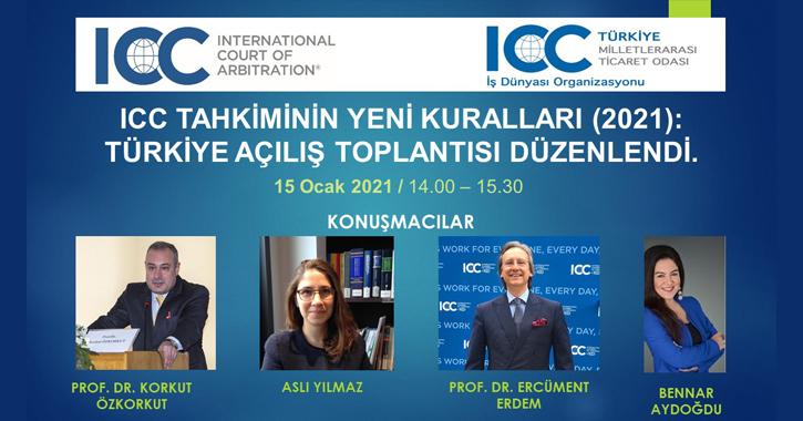 ICC Tahkiminin yeni ve revize kurallarının tanıtımı için, Komitemizce 15 Ocak 2021 tarihinde saat 14.00 – 15.30'da açılış toplantısı düzenlendi.