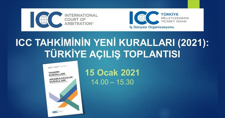ICC Tahkiminin yeni ve revize kurallarının tanıtımı için, Komitemizce 15 Ocak 2021 tarihinde saat 14.00 – 15.30'da açılış toplantısı düzenlenecektir.